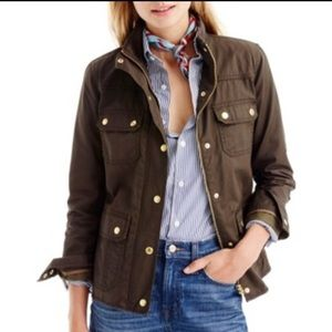 J. Crew Downtown Field Jacket Mossy Brown color